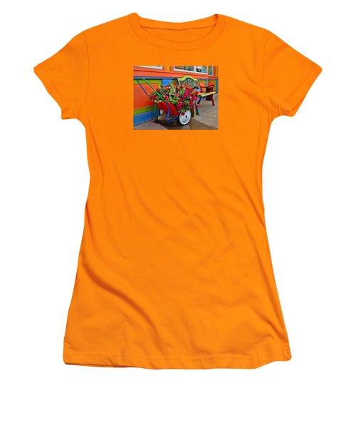 Tannersville Color Blast Women's T-Shirt (Junior Cut) by Nancy De Flon