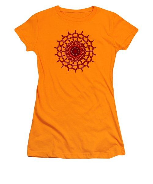 Teardrop Fractal Mandala Women's T-Shirt (Athletic Fit)