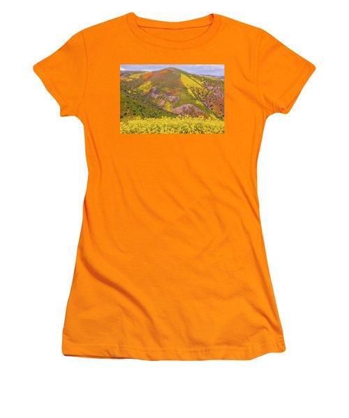Women's T-Shirt (Junior Cut) featuring the photograph Temblor Range Color by Marc Crumpler