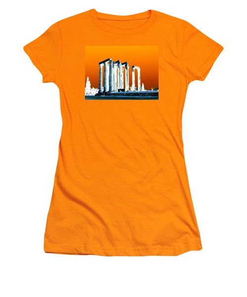 Temple Of Zeus, Athens Women's T-Shirt (Junior Cut) by Karen J Shine
