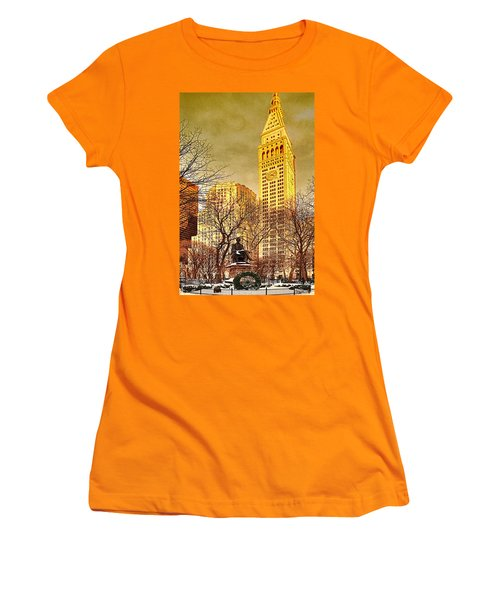 Ten Past Four At Madison Square Park Women's T-Shirt (Junior Cut) by Chris Lord