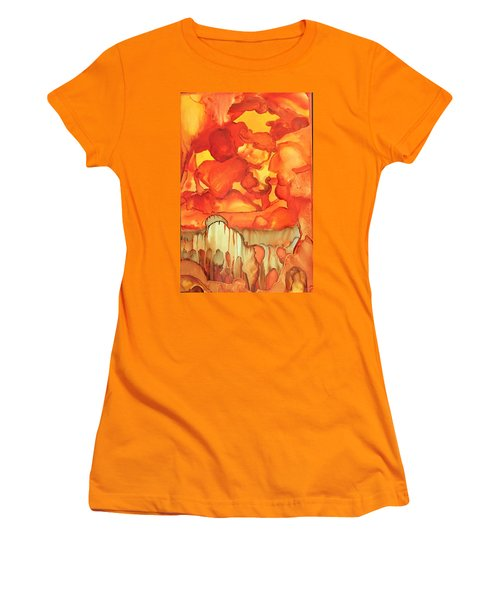 The Ball Of Fire Explodes Women's T-Shirt (Athletic Fit)