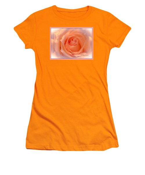 The  Beauty Of A Rose  Copyright Mary Lee Parker 17,  Women's T-Shirt (Junior Cut) by MaryLee Parker