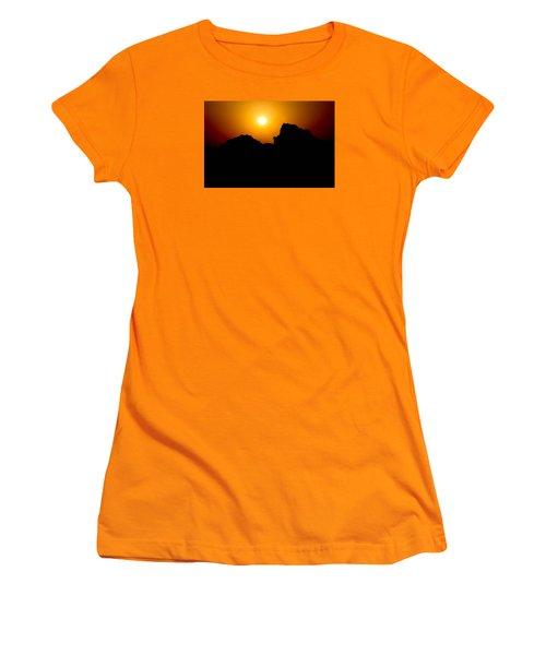 Women's T-Shirt (Junior Cut) featuring the photograph The Burn by Jez C Self