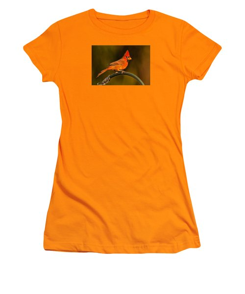 Women's T-Shirt (Junior Cut) featuring the photograph The Cardinal by Don Durfee