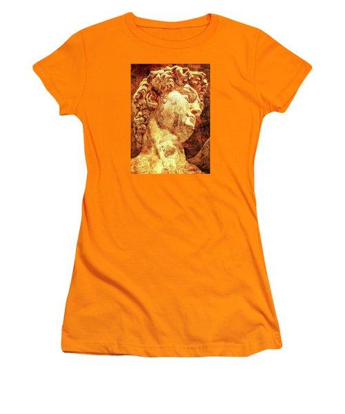 The David By Michelangelo Women's T-Shirt (Junior Cut) by J- J- Espinoza