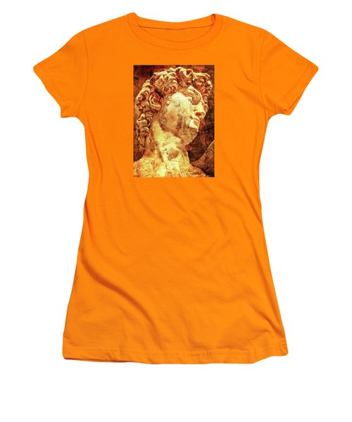 The David By Michelangelo Women's T-Shirt (Athletic Fit)