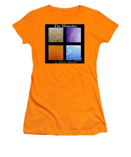 The Elements Women's T-Shirt (Junior Cut) by Rachel Hannah