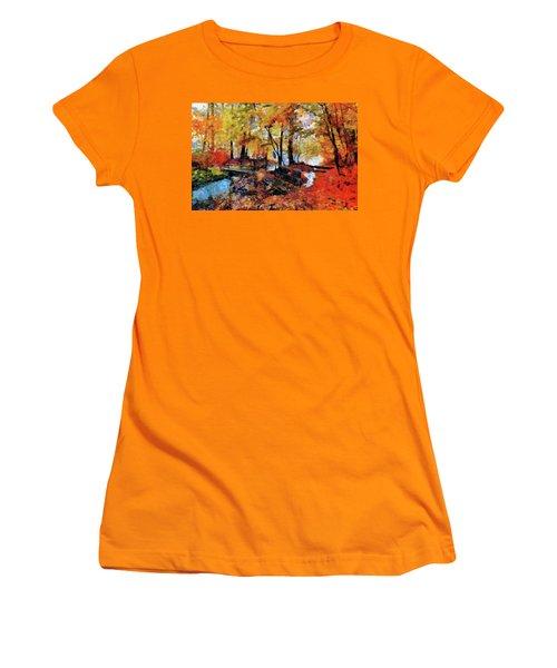 The Failing Colors Of Autumn Women's T-Shirt (Athletic Fit)