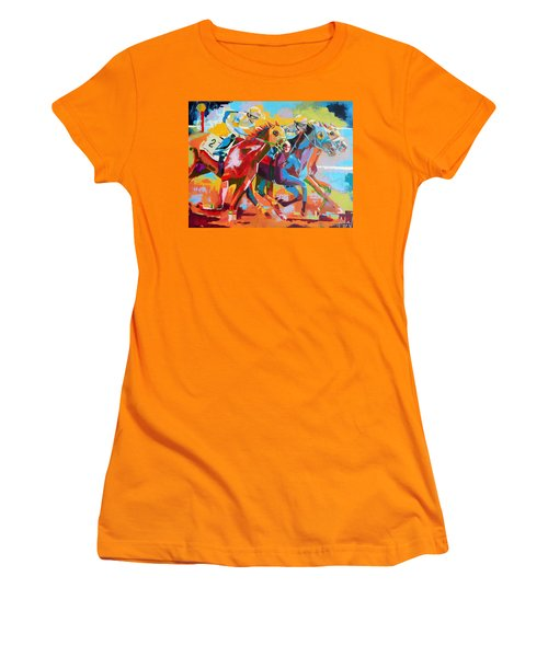 The Finishing Post- Large Work Women's T-Shirt (Athletic Fit)
