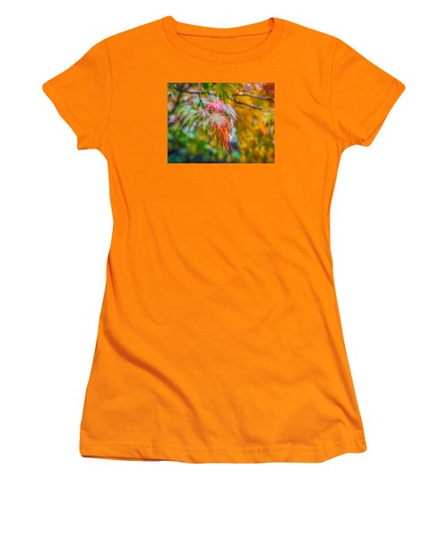 Women's T-Shirt (Junior Cut) featuring the photograph The Freshness Of Fall by Ken Stanback