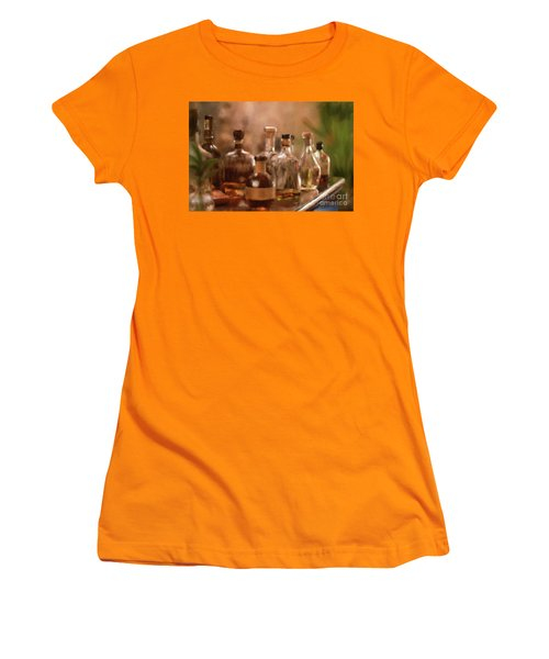 Women's T-Shirt (Athletic Fit) featuring the digital art The Good Stuff by Lois Bryan