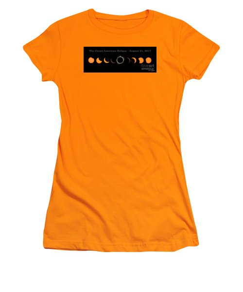 The Great American Eclipse Of 2017 Women's T-Shirt (Athletic Fit)
