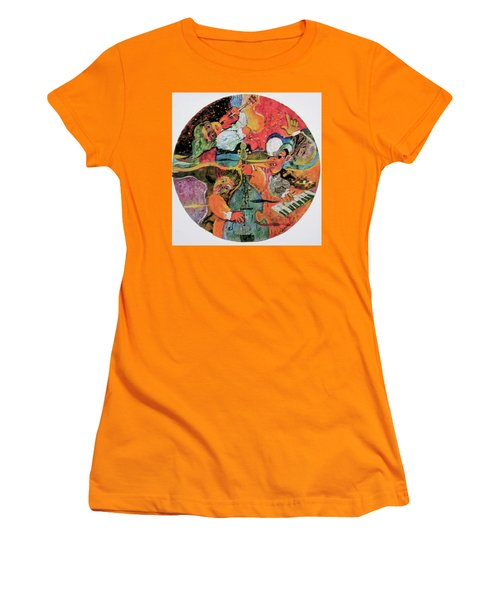 The Holland Jazz Trio Women's T-Shirt (Junior Cut) by Lee Ransaw