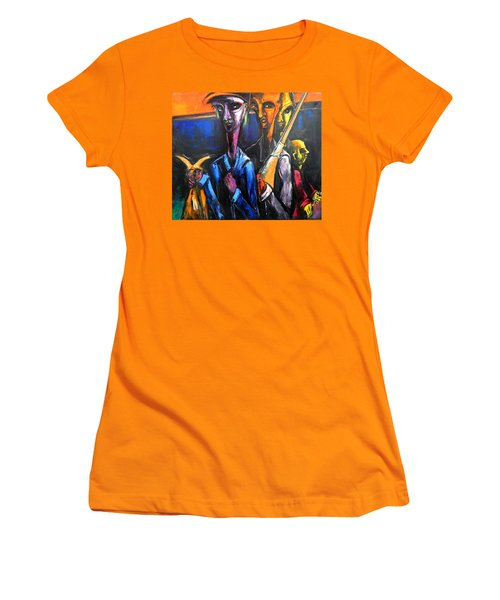 The Hunters Women's T-Shirt (Junior Cut) by Kenneth Agnello