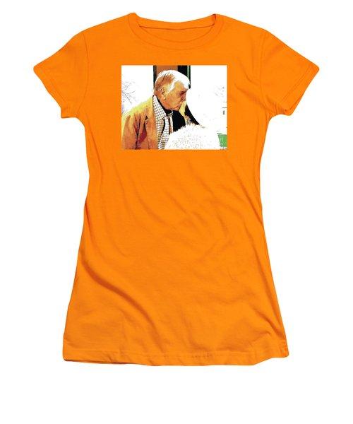 The Kiss II Women's T-Shirt (Junior Cut) by Jesse Ciazza