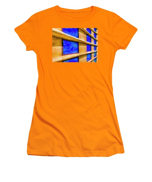 Women's T-Shirt (Athletic Fit) featuring the photograph The Ledge by Paul Wear