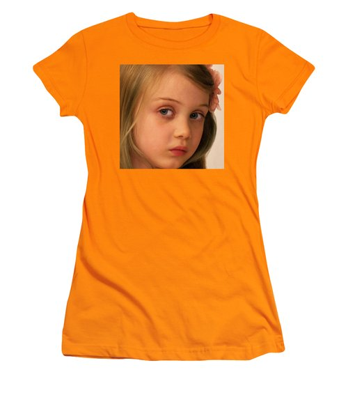 Women's T-Shirt (Junior Cut) featuring the photograph The Look by Stephen Flint