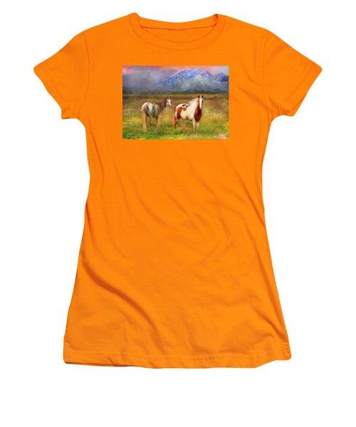 The Majestic Pasture Women's T-Shirt (Junior Cut) by Kari Nanstad