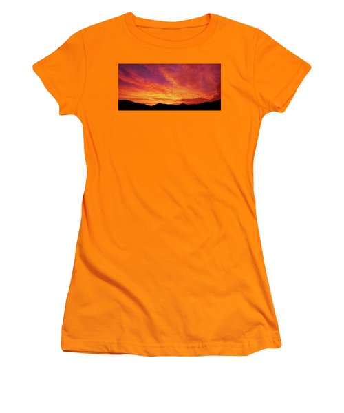 The Morning Sky Ablaze Women's T-Shirt (Athletic Fit)