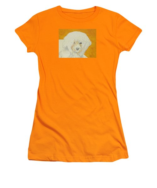 Women's T-Shirt (Junior Cut) featuring the painting The Old Poodle by Hilda and Jose Garrancho