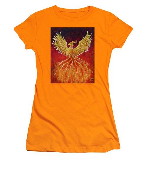 The Phoenix Women's T-Shirt (Junior Cut) by Teresa Wing