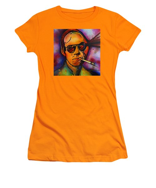The Psycho-delic Suicide Of The Tambourine Man Women's T-Shirt (Junior Cut) by Eric Dee