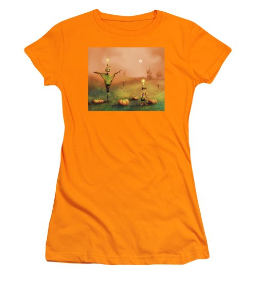 The Pumpkin Thief Women's T-Shirt (Athletic Fit)