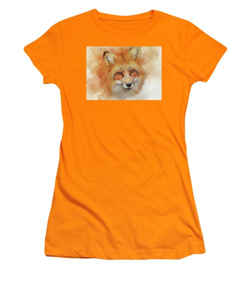 The Red Fox Women's T-Shirt (Junior Cut) by Brian Tarr