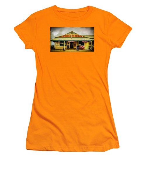 Women's T-Shirt (Junior Cut) featuring the photograph The Store by Perry Webster