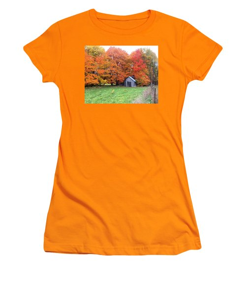Women's T-Shirt (Junior Cut) featuring the photograph The Sugar Shack by Pat Purdy