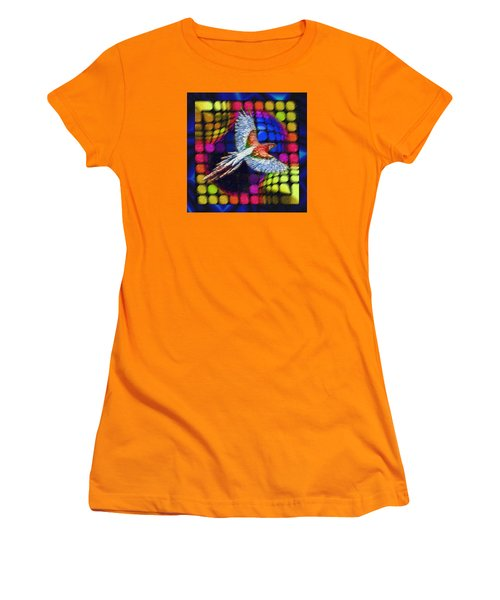 Women's T-Shirt (Junior Cut) featuring the painting The Urge To Be Free And Soar The Heavens by Mario Carini