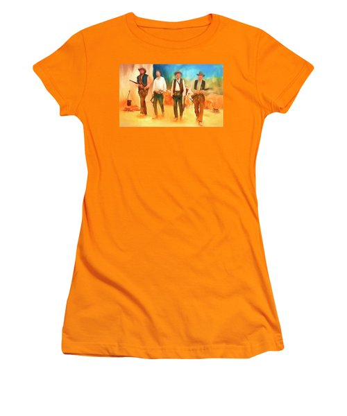 Women's T-Shirt (Junior Cut) featuring the painting The Wild Bunch by Michael Cleere