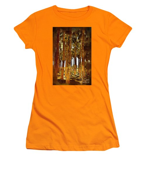 Thick Palm Trees Women's T-Shirt (Junior Cut) by Kirt Tisdale