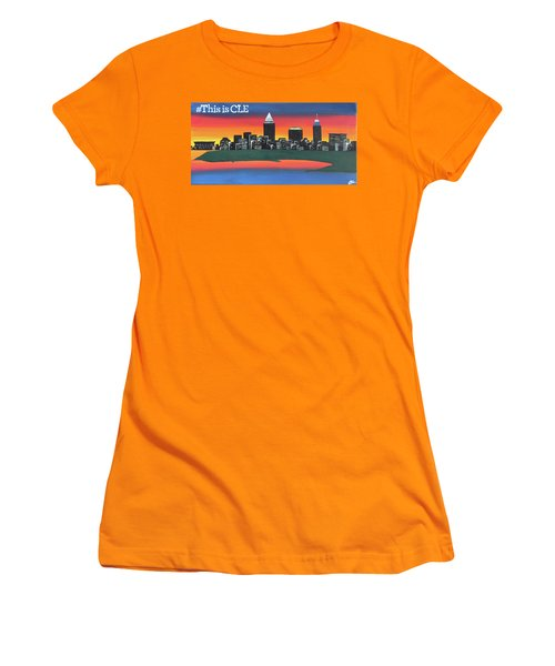 This Is Cle Women's T-Shirt (Junior Cut) by Cyrionna The Cyerial Artist
