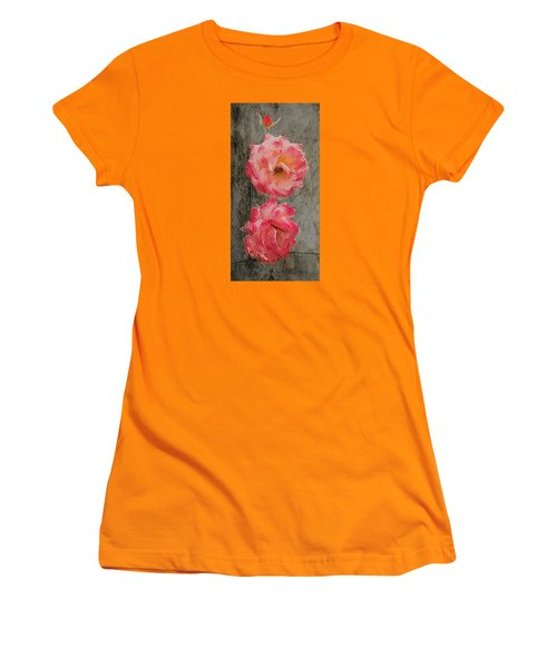 Women's T-Shirt (Junior Cut) featuring the digital art Three Roses by Dale Stillman