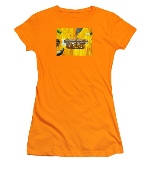 Three Violins Women's T-Shirt (Junior Cut) by Jock McGregor