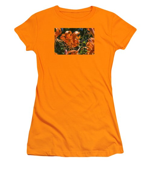Tiger Lilies In The Sun Women's T-Shirt (Athletic Fit)