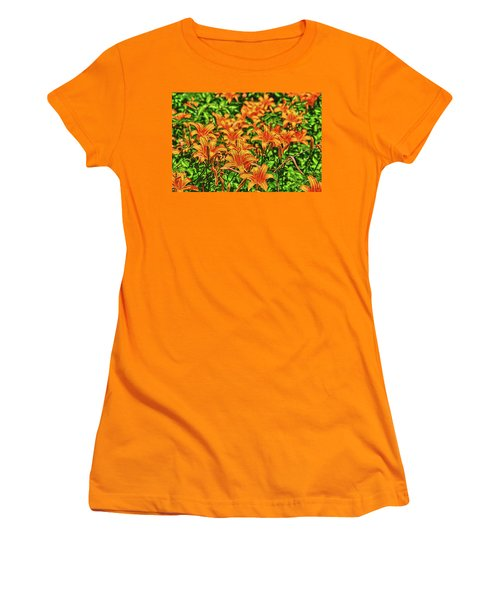 Tiger Lilies Women's T-Shirt (Athletic Fit)
