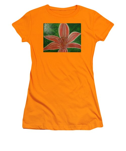 Tiger Lilly Women's T-Shirt (Junior Cut) by Barbara Yearty