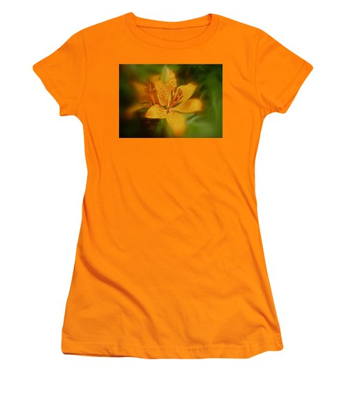 Women's T-Shirt (Junior Cut) featuring the photograph Tiger Lily No. 1 by Richard Cummings
