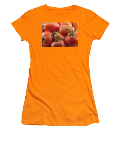 Women's T-Shirt (Athletic Fit) featuring the photograph Tomato Stems by James BO Insogna