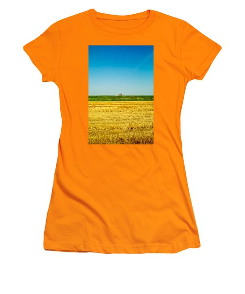 Tricolor With Tractor Women's T-Shirt (Athletic Fit)