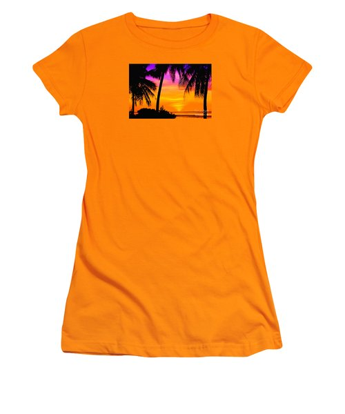 Tropical Delight Women's T-Shirt (Athletic Fit)