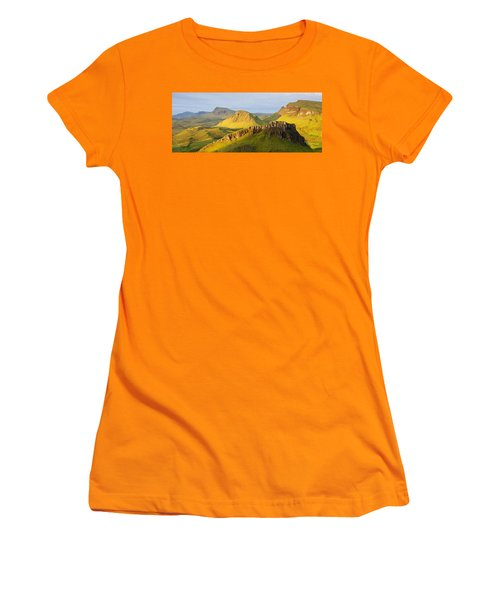 Trotternish Summer Morning Panorama Women's T-Shirt (Athletic Fit)