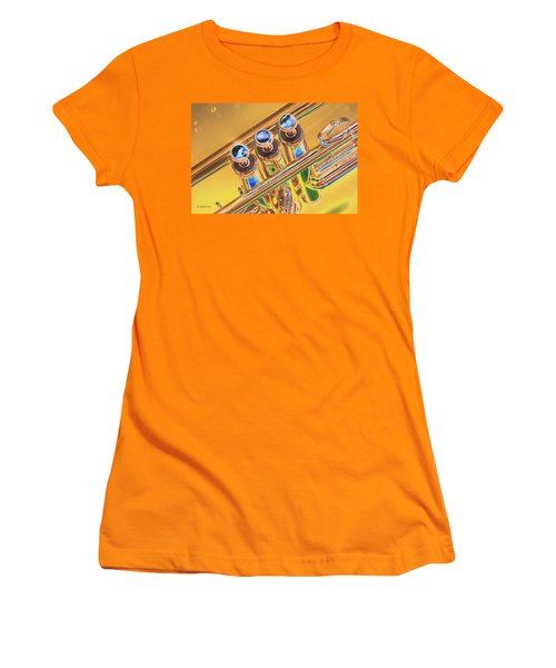 Trumpet Keys Women's T-Shirt (Junior Cut) by Pamela Williams