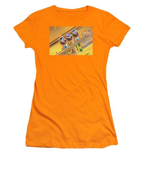 Trumpet Keys Women's T-Shirt (Athletic Fit)