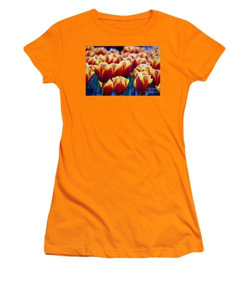 Tulips At Sunset Women's T-Shirt (Junior Cut) by Michael Cinnamond