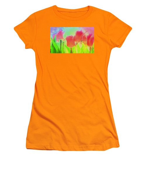 Tulips In Abstract 2 Women's T-Shirt (Athletic Fit)