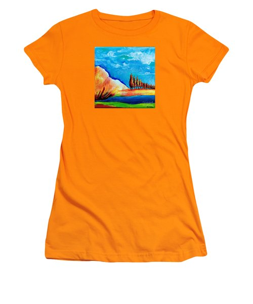 Tuscan Cypress Women's T-Shirt (Athletic Fit)
